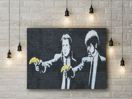 Banksy: Pulp Fiction. Fine Art Canvas.